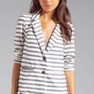 Splendid Blazer Navy Blue Stripes S